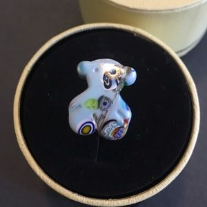 Tous carnaval Murano glass silver ring size 6.5